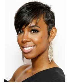 Layered Hairstyle 100% Human Short Hair Capless African American Wigs 6 Inches