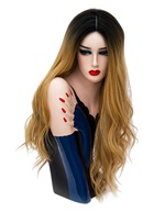 Hot Sale CosplayBrown Long Kinky Curly Synthetic Capless Hair Wig 28 Inches