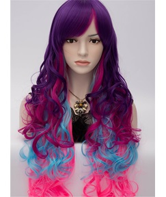 My Little Pony Rainbow Voguish Long Wavy Cosplay Party Wig 28 Inches