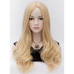Attractive Cheryl Long Wavy Blonde Hair Cosplay Party Wig 24 Inches