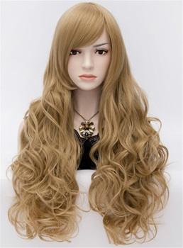 Sexy Anastasia Rich Flaxen Brown Long Wavy Wig 32 Inches
