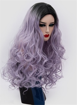 Cosplay Big Curly Fashion Color Multicolor Hair