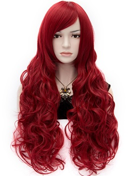 Gorgeous Anastasia Long Wavy Red Hair Wig 32 Inches