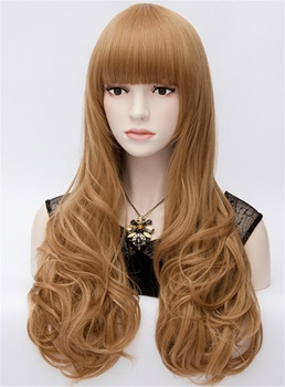 Kawaii Princess Spiral Wavy Brown Full Hair Cosplay Party Wig 28 Inches