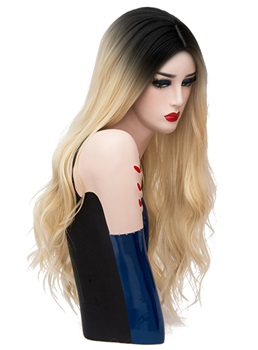 Hot Sale Cosplay Long Kinky Curly Synthetic Capless Hair Wig 28 Inches