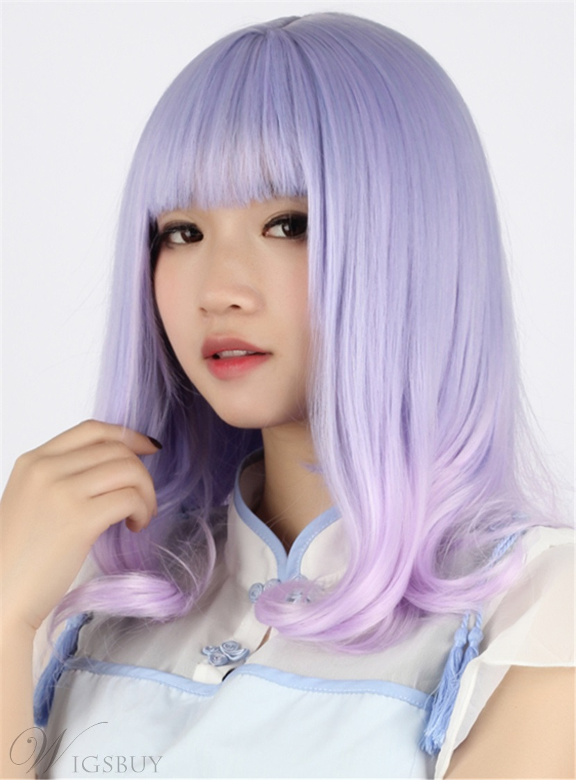 japanese lolita style curly fluorescence color cosplay