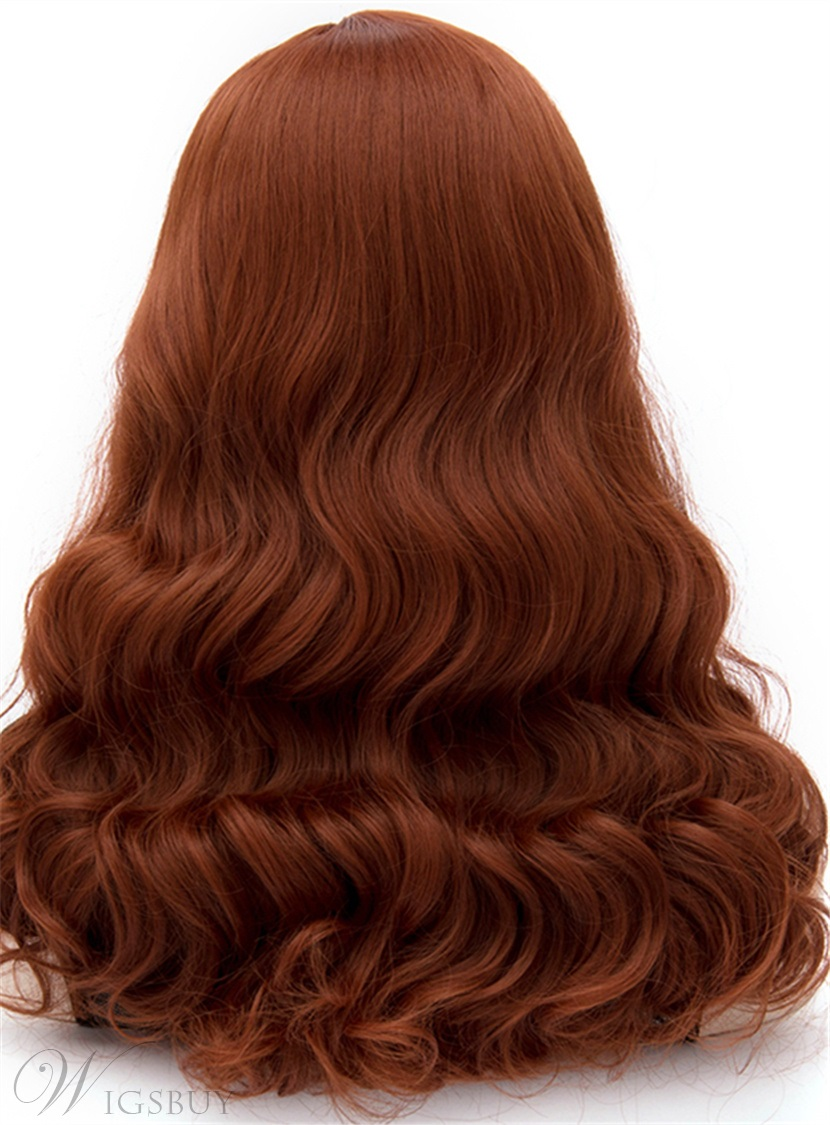 Western Fashion Long Curly Reddish Brown Mermaid Cosplay Party Wig 20 Inches Wigsbuy Com