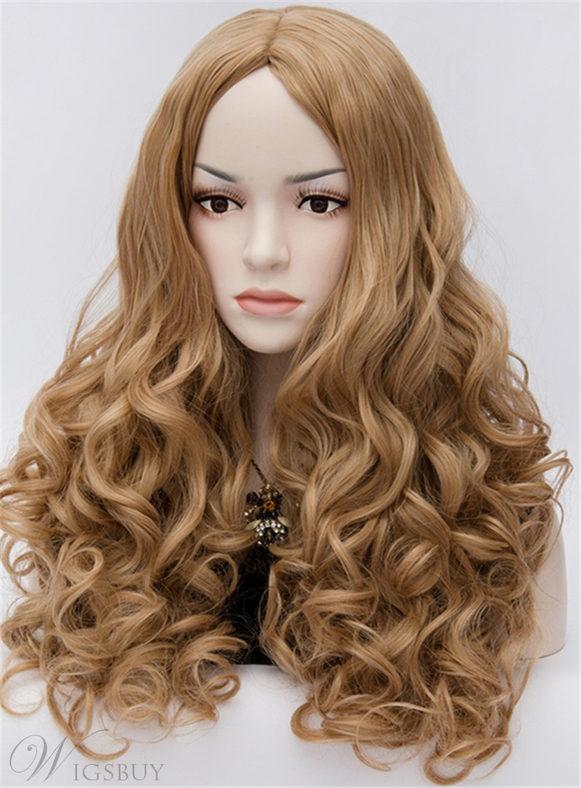 Cheryl Movie Style Long Curly Brown Full Hair Cosplay Wig 24 Inches