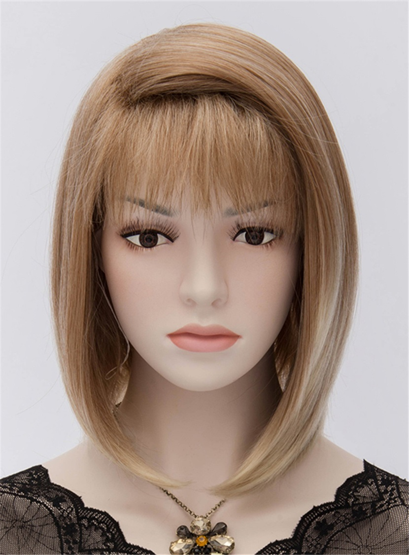 Fashionable Angel Heat-Resistant Short Bob Brown Hair Wig 12 Inches