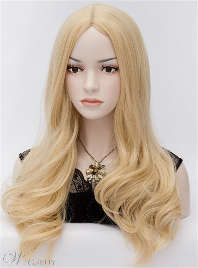 66 Attractive Cheryl Long Wavy Blonde Hair Cosplay Party Wig 24 Inches
