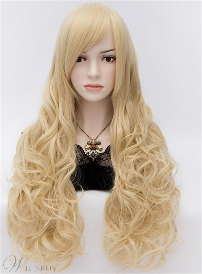 Sexy Anastasia Rich Brown Long Wavy Blonde Hair Wig 32 Inches