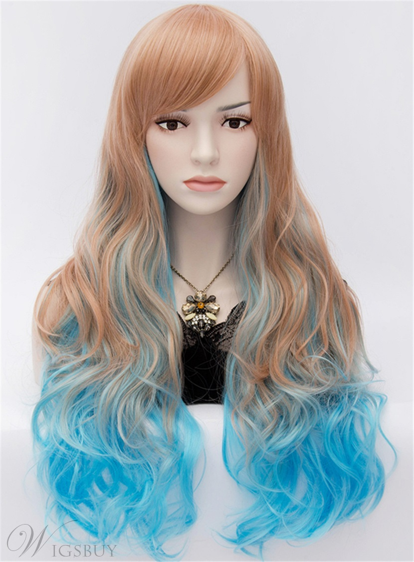 Fabulous Harajuku Style Long Wavy Brown Cosplay Wig With