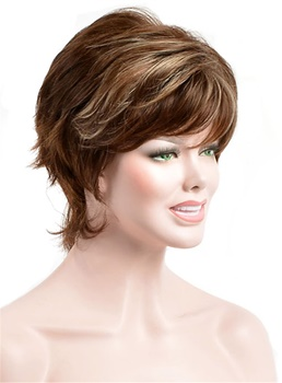 New Trend Carefree Short Straight Synthetic Hair Capless Wig 6 Inches