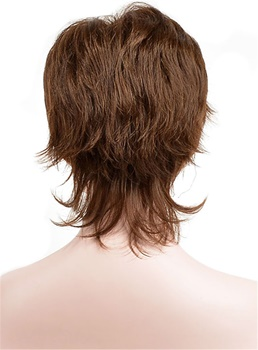 Pixie Choppy Style Short Straight Synthetic Hair Capless Wigs 6 Inches