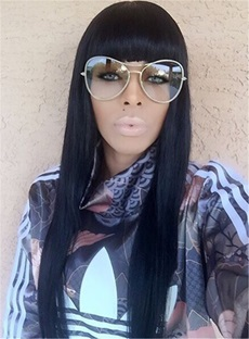 Keyshia Kaoir Long Straight Black Capless Wigs 30 Inches