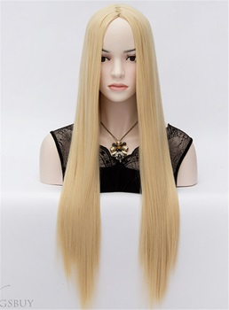 Keyshia Kaoir Central Parting Long Straight Blonde Hair Wigs 32 Inches