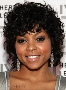 Taraji 100% Human Hair Curly Capless Wigs 10 Inches