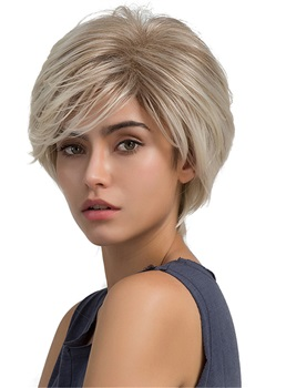 Short Straight Pixie Cut Layered Synthetic Women Wigs