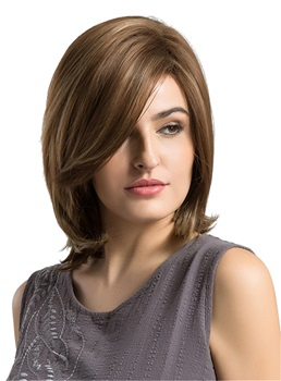 Shoulder Length Bob Style Synthetic Capless Women Wigs