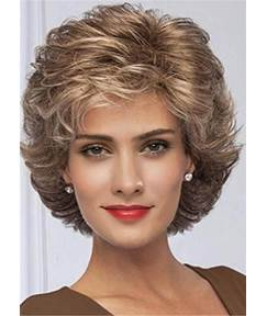 Short Flattering Layered Cut Synthetic Capless Women Wigs