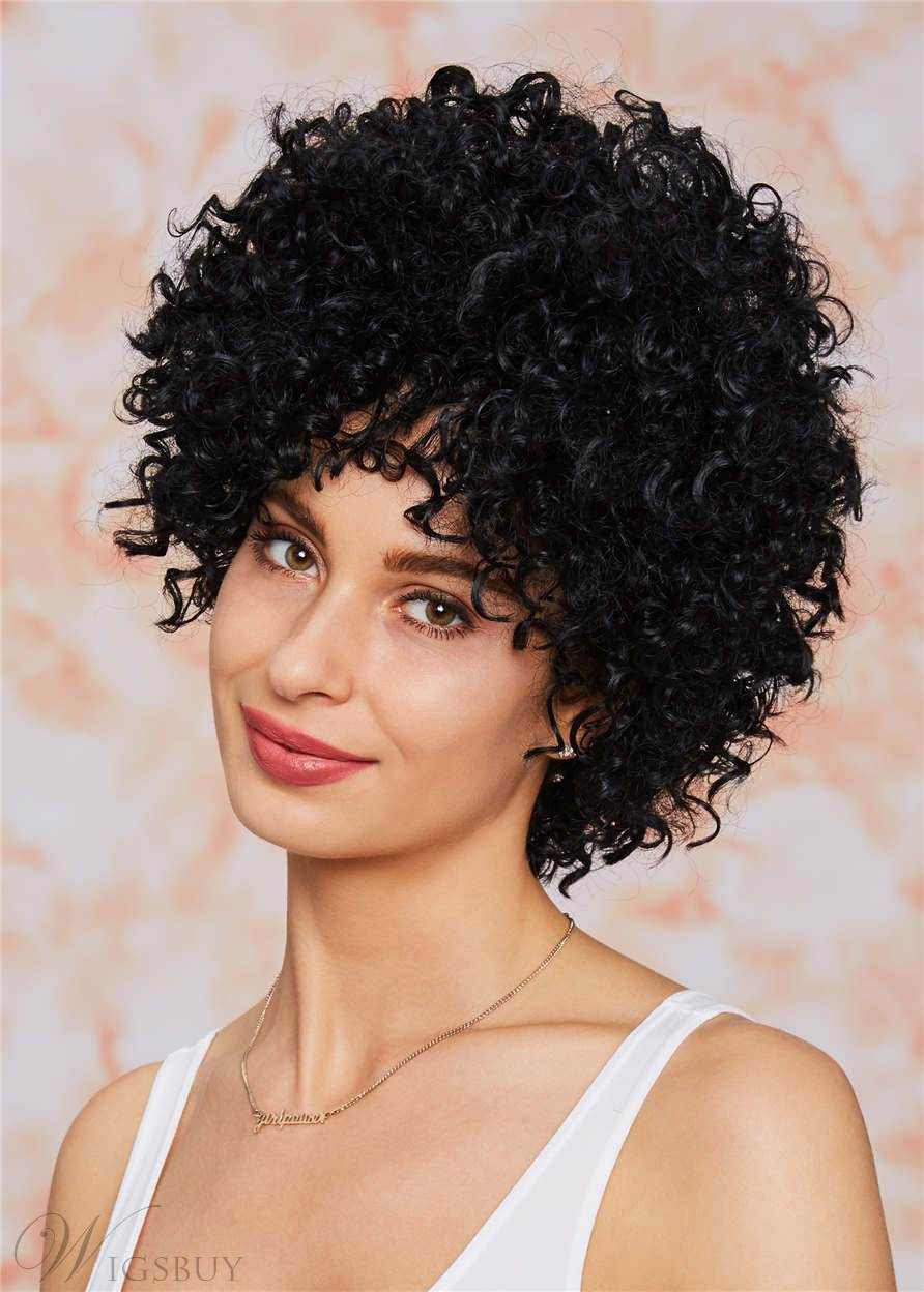 Kinky Curly Pixie Short Tight Coils Synthetic Hair With