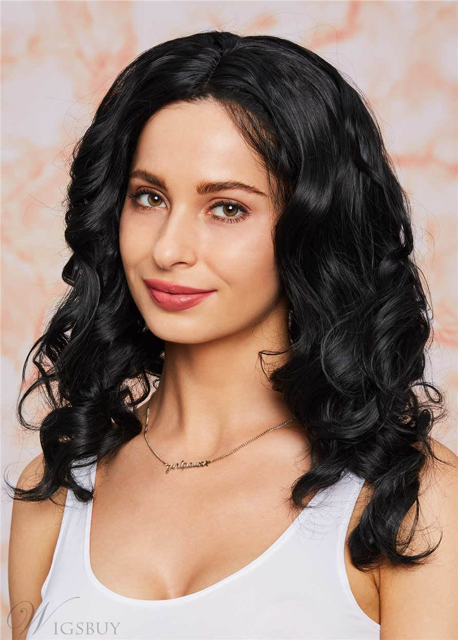 Deep Wavy Synthetic Hair Lace Front Wigs 14 Inches For African American