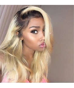 #1B/613 Natural to Blonde Human Hair Weave Body Weave 1 PC