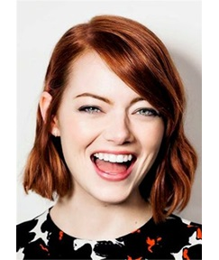 Emma Stone Natural Wavy Human Hair Full Lace Wig 14Inches