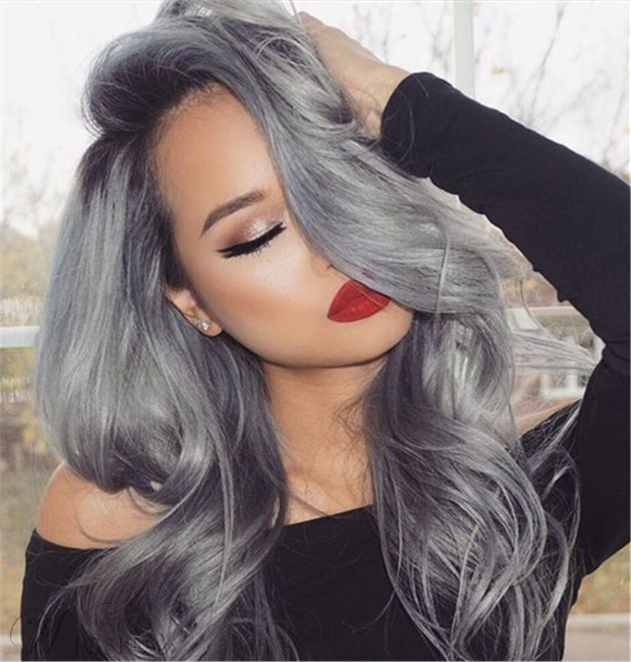 Wigsbuy Body Wave Huaman Hair Weave 1B/Grey Hair Bundles 3Pcs