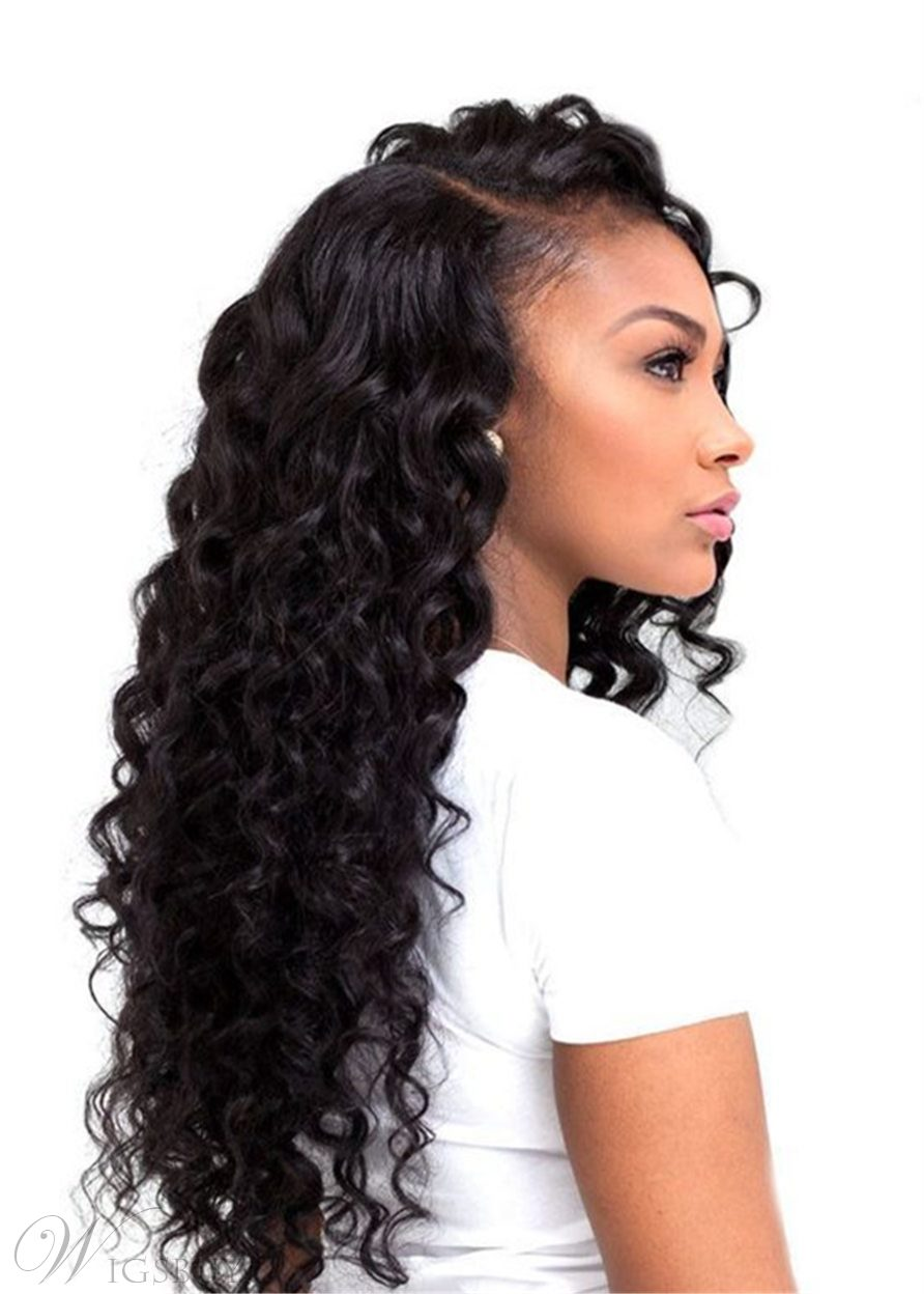 Wigsbuy Brazilian 3 Bundles Virgin Deep Wave Human Hair With Lace Closure