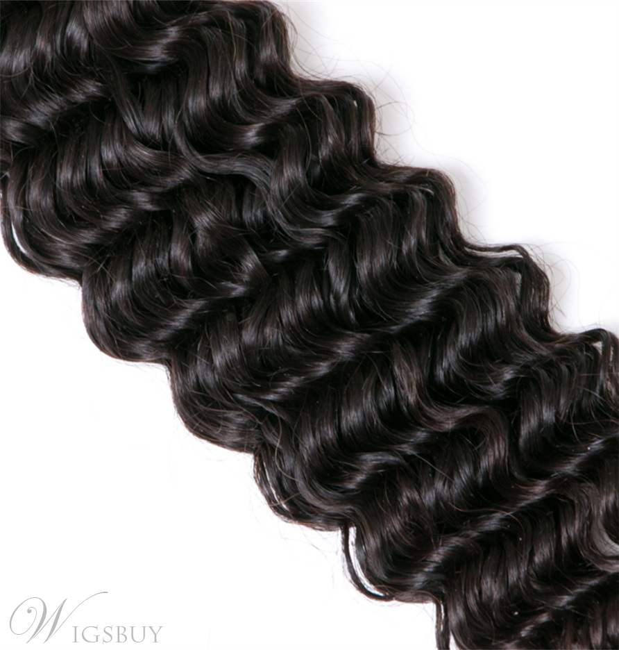 Wigsbuy Brazilian Deep Wave Human Virgin Hair Weft 3 Bundles