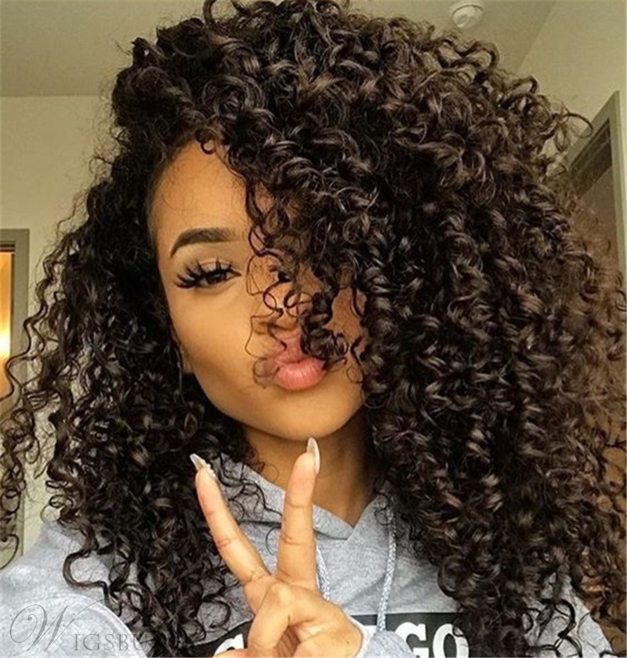 Wigsbuy Brazilian Kinky Curly Virgin Hair Weaves 3 Bundles/Pack