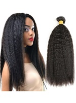 Wigsbuy Brazilian Kinky Straight Human Hair Weave 8-26 Inches