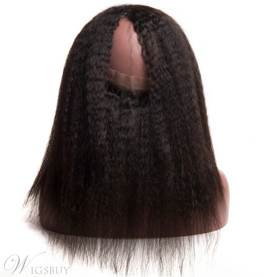 Wigsbuy Afro Kinky Straight 360 Lace Frontal With Baby Hair Pre Plucked Lace Frontal