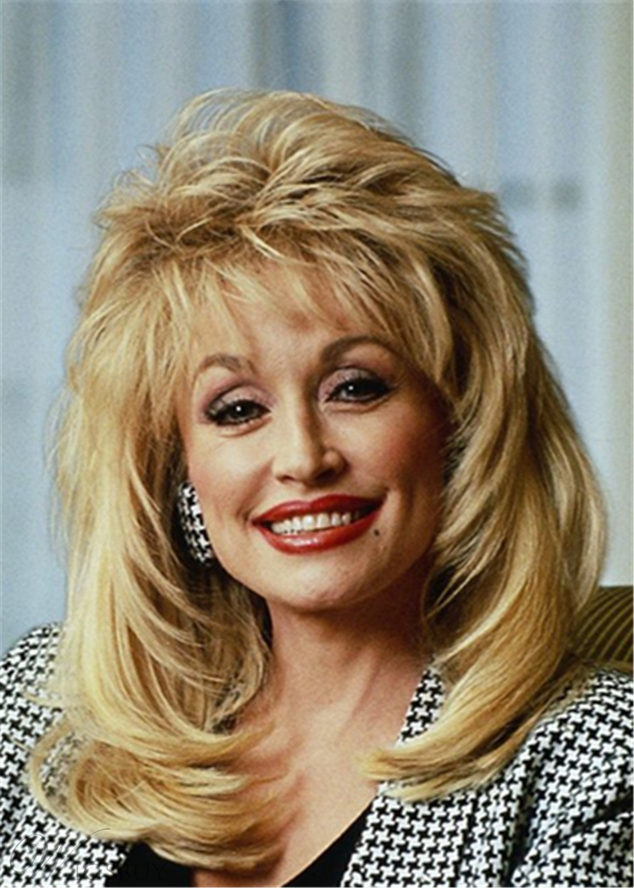 Dolly Parton Hairstyle Synthetic Hair Lace Front Cap Wig M