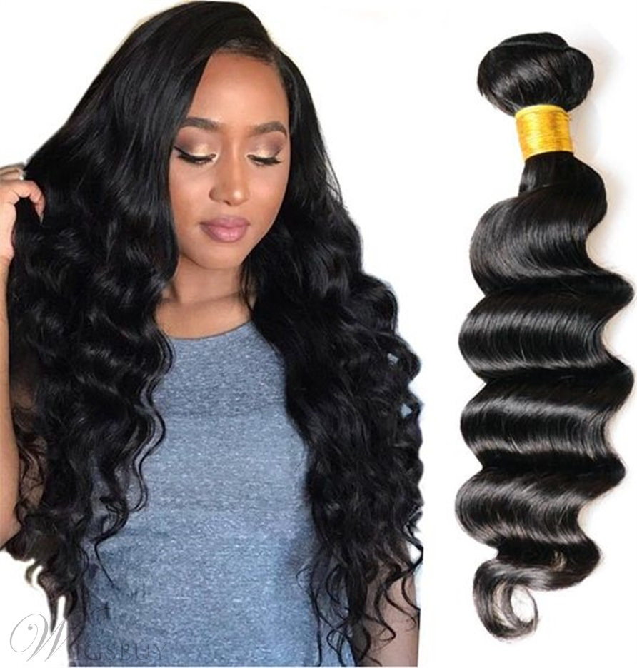 Wigsbuy Brazilian Virgin Loose Deep Human Hair Bundle 8-26 Inches