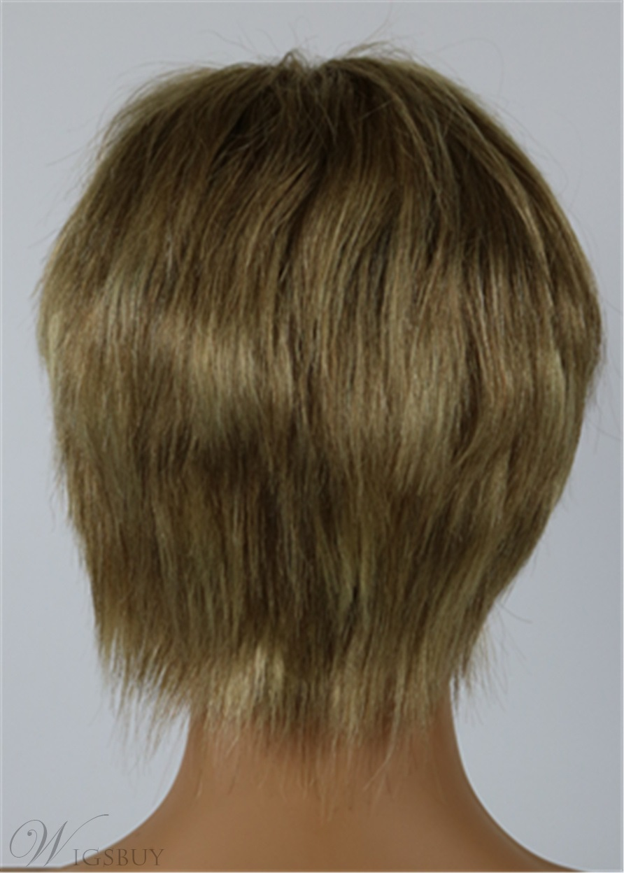 Short Straight Full Lace Wigs 100% Indian Human Hair