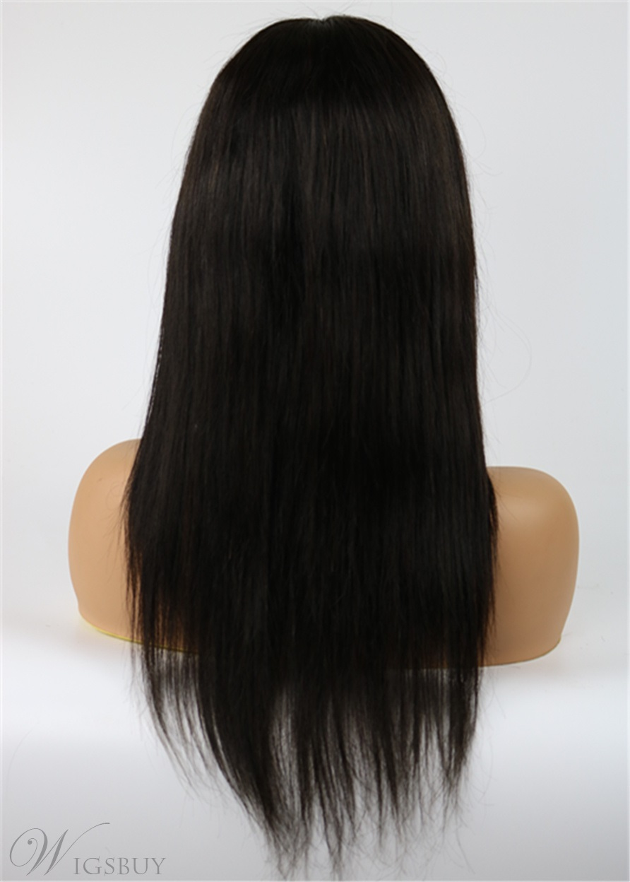 New Arrival Medium Straight Human Hair Wig for Black Women 16 Inches