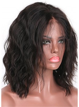 African American Middle Length Lace Front Wave Synthetic Wigs