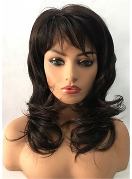 Medium Wavy Layered Cut Synthetic Capless Wigs
