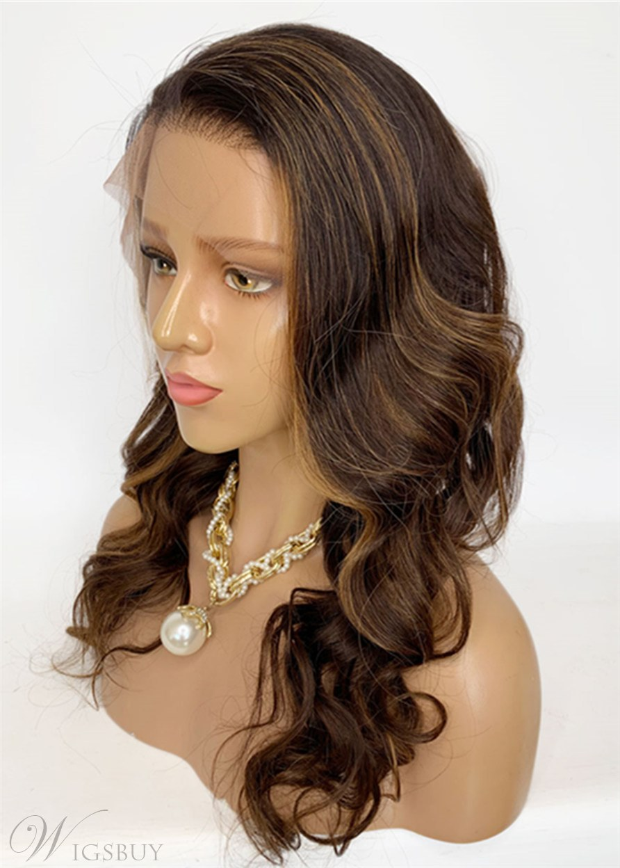 Long Layered Loose Wave Lace Front Human Hair Wigs 22 Inches
