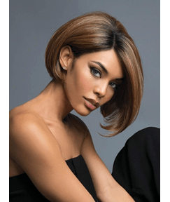 Bob Hairstyle Brown Synthetic Straight Hair Wig 10 Inches