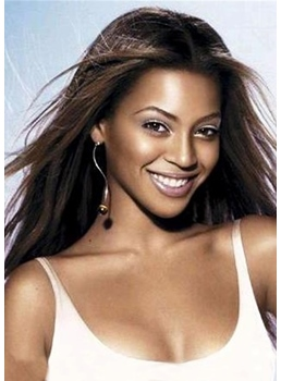 Beyonce Lace Front Long Straight Human Hair 18 Inches Wigs